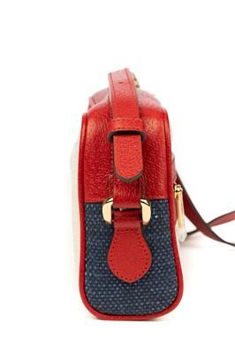 Lot 9 - Gucci Tricolour Sylvie Mini Ophidia Crossbody Bag