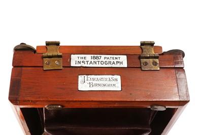 Lot 1 - An unusual Lancaster 1/4 instantograph, 1887