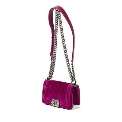 Lot 45 - Chanel Magenta Mini Boy Bag