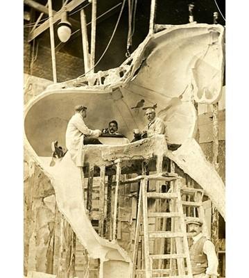 Lot 54 - ADRIAN JONES (BRITISH, 1845-1938: A LARGE PLASTER MODEL OF GRAND NATIONAL WINNER 'WHY NOT'