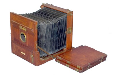 Lot 46 - A 12 x 10 Marion & Co Tailboard Camera & 2 DDS.