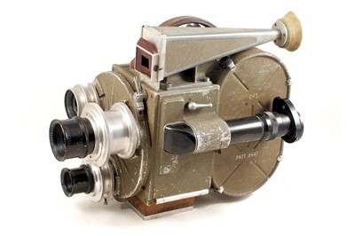 Lot 47 - Rare Maurice Morigraf 35mm Cine Camera with 3 Kinoptik Lenses