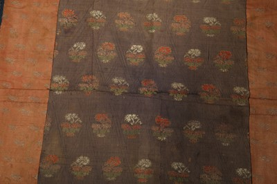 Lot 13 - A GROUP OF FOUR SILK BROCADE COVERS