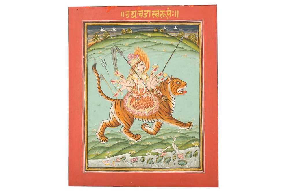 Lot 352 - THE HINDU GODDESS DURGA RIDING ON HER MOUNT (VAHANA)