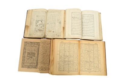 Lot 50 - A COLLECTOR'S LIBRARY OF PERSIAN PRINTED BOOKS AND A MATHNAVI MA'NAVI BY RUMI