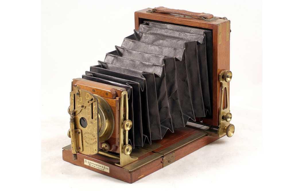 Lot 6 - A Rare Quarter Plate, Brass Bound Lancaster Special Instantagraph.
