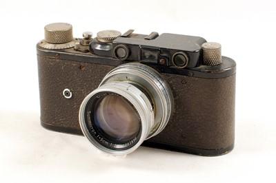 Lot 115 - Black Leica II with 5cm Summicron f2 Lens.