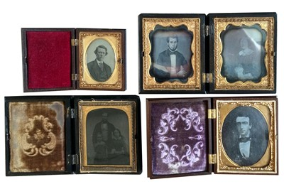 Lot 2 - Small Group of Daguerreotypes in Union Cases.