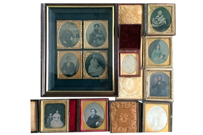 Lot 7 - Mixed Group of Eleven Ambrotypes & Daguerreotypes, inc a Beard Case.