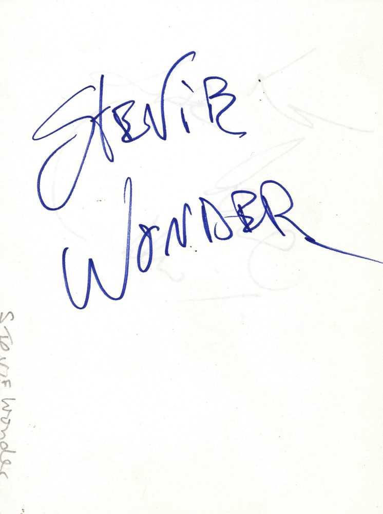 Lot 1424 - Autograph Albums.- Incl. Stevie Wonder