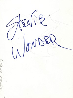 Lot 1424 - Autograph Albums.- Incl. Stevie Wonder