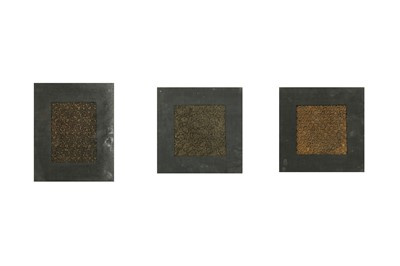 Lot 16 - THREE TEXTILE PRINTING COPPER AND BRASS BLOCKS