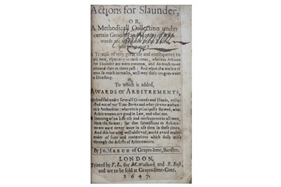 Lot 1052 - March (John) Actions for Slaunder.....1647