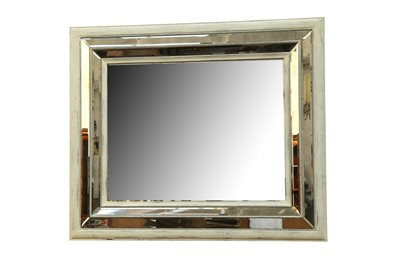 Lot 61 - A LARGE WHITE PAINTED WOOD FRAME MIRROR, 20TH CENTURY