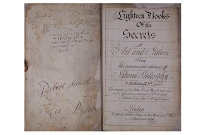 Lot 1526 - Wecker (Johann Jacob.) Eighteen Books of the Secrets of arts and Nature. 1660.