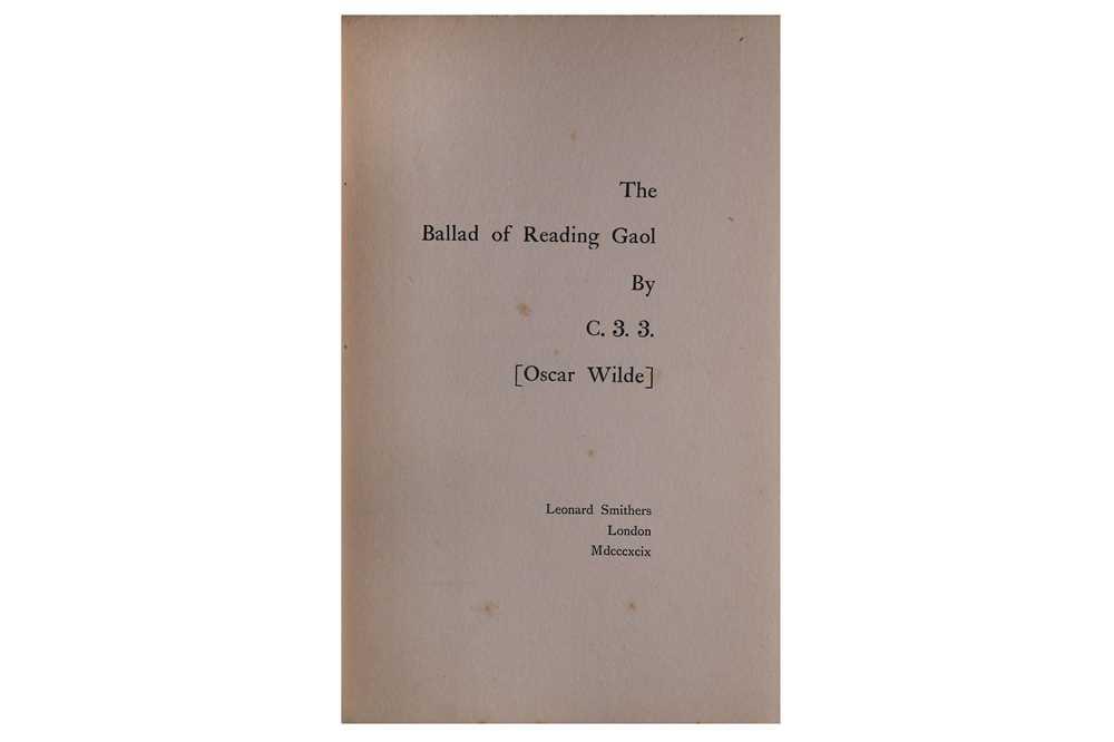 Lot 1020 - [Wilde (Oscar)] C.3.3. The Ballad of Reading Gaol, 1899