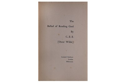 Lot 1020 - [Wilde (Oscar)] C.3.3. The Ballad of Reading Gaol, 1899