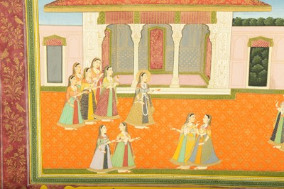 Lot 7 - AN ILLUSTRATION FROM A KRISHNA LILA SERIES