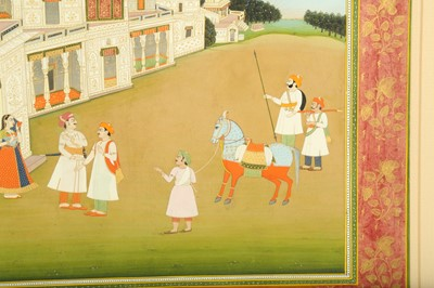 Lot 3 - AN ILLUSTRATION FROM A KRISHNA LILA SERIES