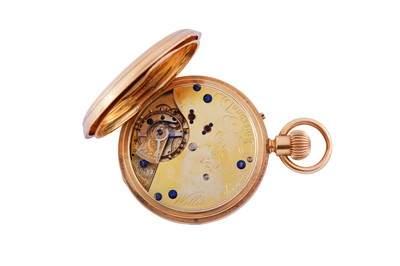 Lot 1 - FULL HUNTER CHRONOGRAPH POCKET WATCH.