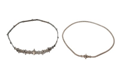 Lot 365 - TWO INDIAN SILVER BELTS