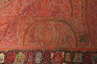 Lot 23 - A KASHMIRI JAMAVAR RUMAL (SQUARE SHAWL)