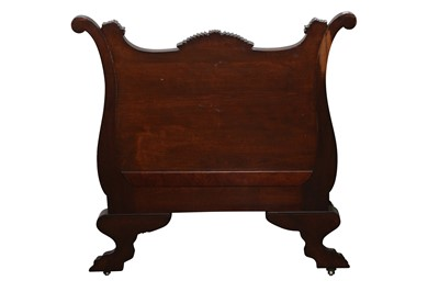 Lot 14 - AN AMERICAN EMPIRE CARVED CHAIR