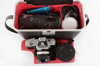 Lot 37 - A NIkon Nikomat FTN SLR Camera Outfit