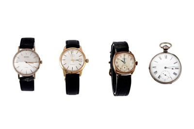 Lot 14 - 3 WRISTWATCHES AND 1 POCKET WATCH.