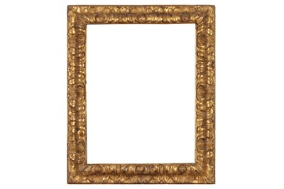 Lot 180 - A BOLOGNESE 17TH CENTURY CARVED AND GILDED FRAME