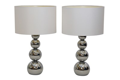 Lot 34 - A PAIR OF CONTEMPORARY TABLE LAMPS