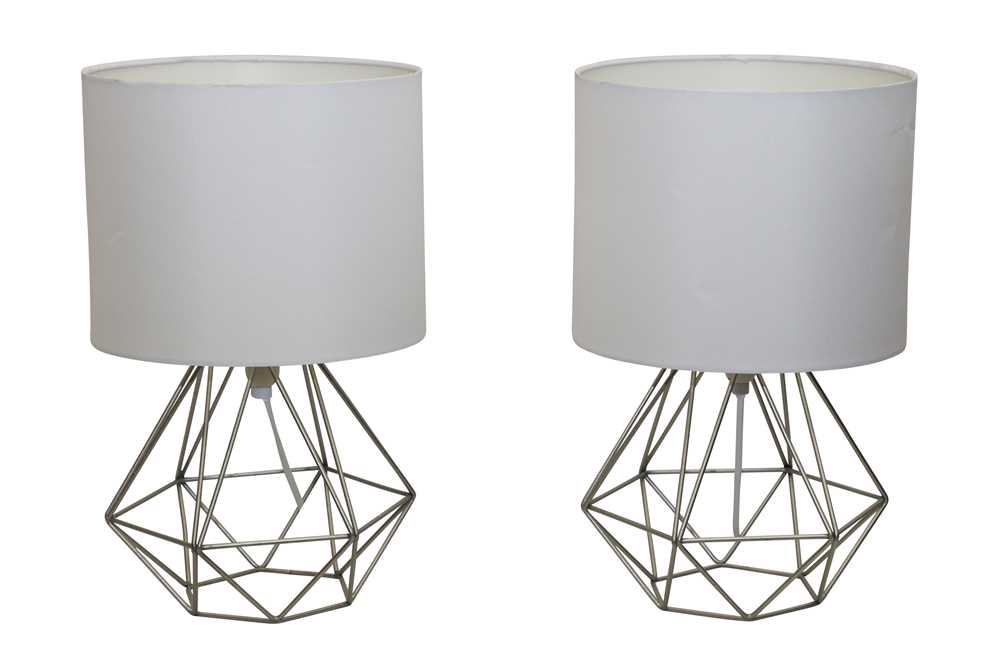 Lot 33 - A PAIR OF CONTEMPORARY TABLE LAMPS