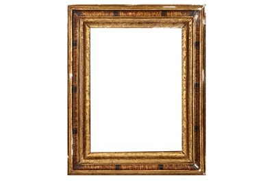 Lot 172 - AN ITALIAN 18/19TH CENTURY FAUX TORTOISESHELL  PAINTED CARVED MOULDING FRAME