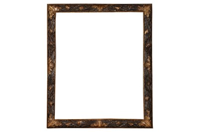 Lot 171 - A BOLOGNESE 17TH CENTURY STYLE CARVED AND PARTIALLY GILDED FRAME