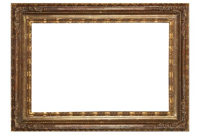 Lot 185 - A LOUIS XIV CARVED AND GILDED LEBRUN STYLE FRAME