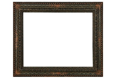 Lot 170 - AN ITALIAN LATE 18TH CENTURY CARVED AND POLYCHROME PAINTED FRAME