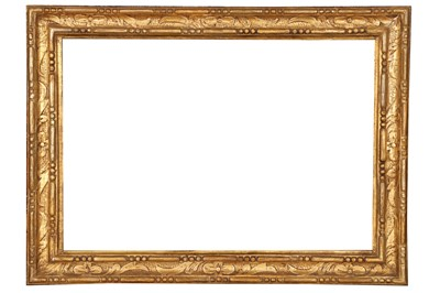 Lot 192 - AN ITALIAN 19TH CENTURY CARVED AND GILDED FRAME