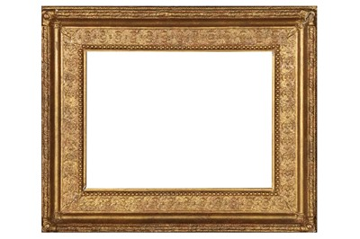 Lot 193 - AN ENGLISH 19TH CENTURY GILDED COMPOSITION FRAME
