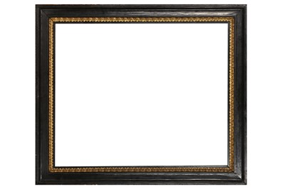 Lot 168 - A DUTCH EBONISED AND PAINTED FRAME