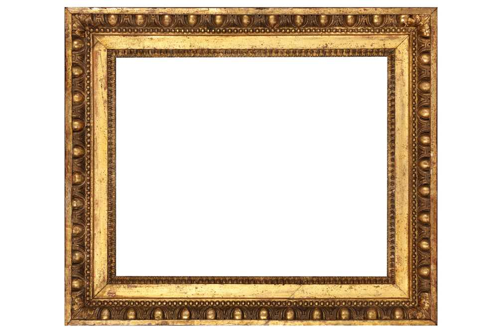 Lot 174 - A LOUIS XVI CARVED AND GILDED COMPOSITION FRAME