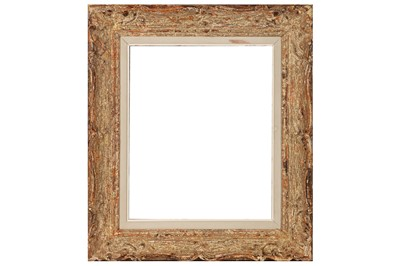 Lot 188 - A PROVINCIAL LOUIS XIV STYLE CARVED AND PAINTED FRAME