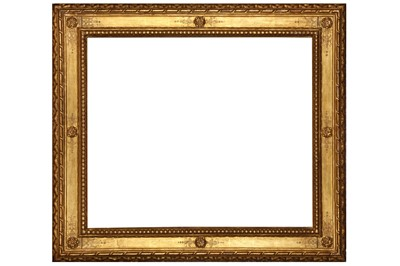 Lot 175 - AN ITALIAN CARVED AND GILDED REVERSE CASSETTA STYLE FRAME