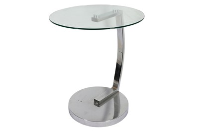 Lot 26 - A GLASS AND CHROME TABLE, IN THE MANNER OF EILEEN GREY, CONTEMPORARY