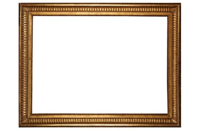 Lot 181 - A FRENCH 19TH CENTURY GILDED COMPOSITION EMPIRE FRAME