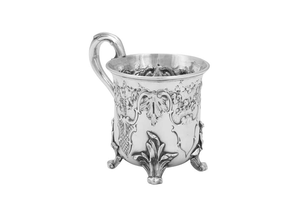 Lot 477 - A Victorian sterling silver christening mug, London 1842 by Benjamin Preston