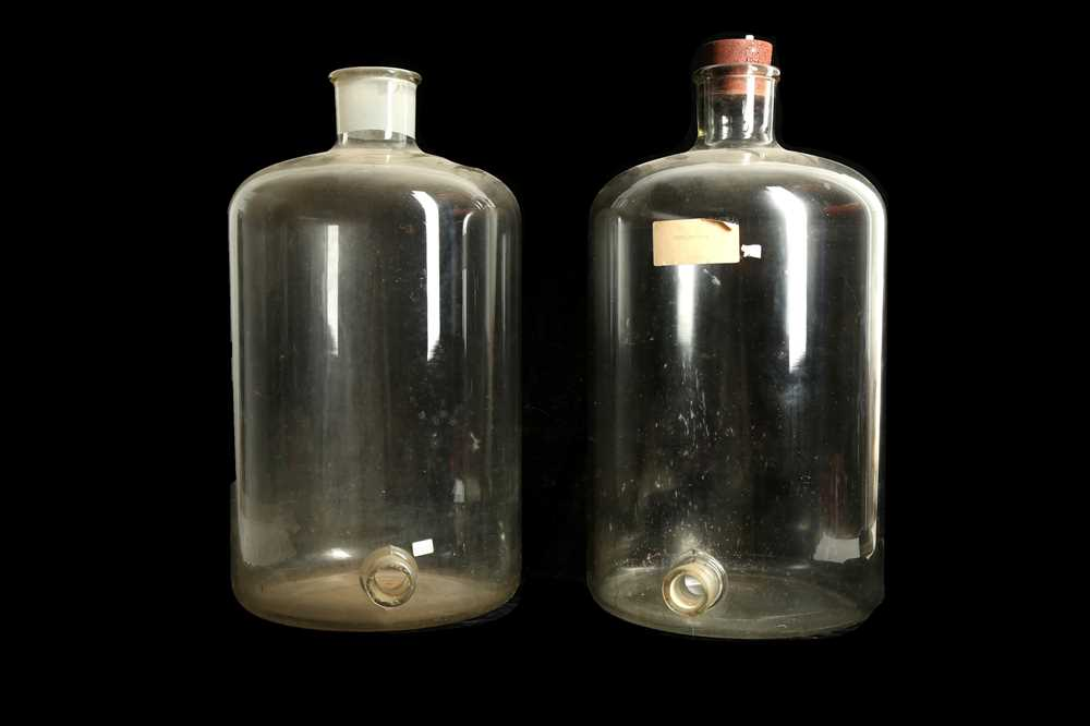 Lot 37 - TWO GIANT GLASS JARS