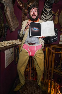 Lot 61 - A PAIR OF VIKTOR WYND'S UNDERPANTS TOGETHER WITH A COPY OF HIS BOOK