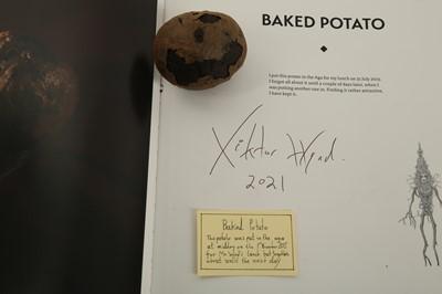 Lot 49 - VIKTOR WYND (BRITISH): A DESSICATED BAKED POTATO TOGETHER VIKTOR WYND'S BOOK