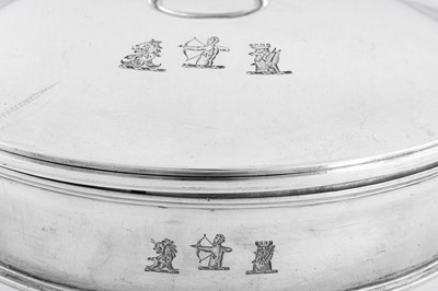 Lot 503 - An unusual George IV sterling silver breakfast dish / plate warmer, London 1824 by Richard Sibley (this mark reg. 13th July 1812)