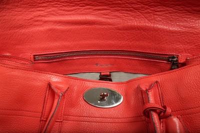Lot 13 - Mulberry Coral Red Bayswater Bag
